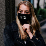 Fabric Face Mask - Area Codes