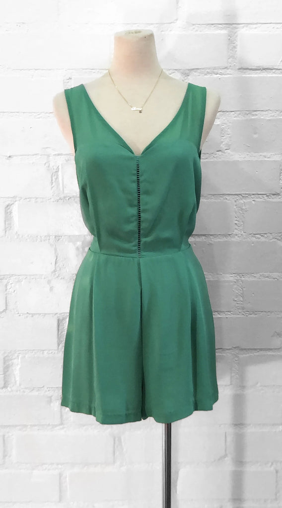 CINDY romper - Teal ( Medium left)