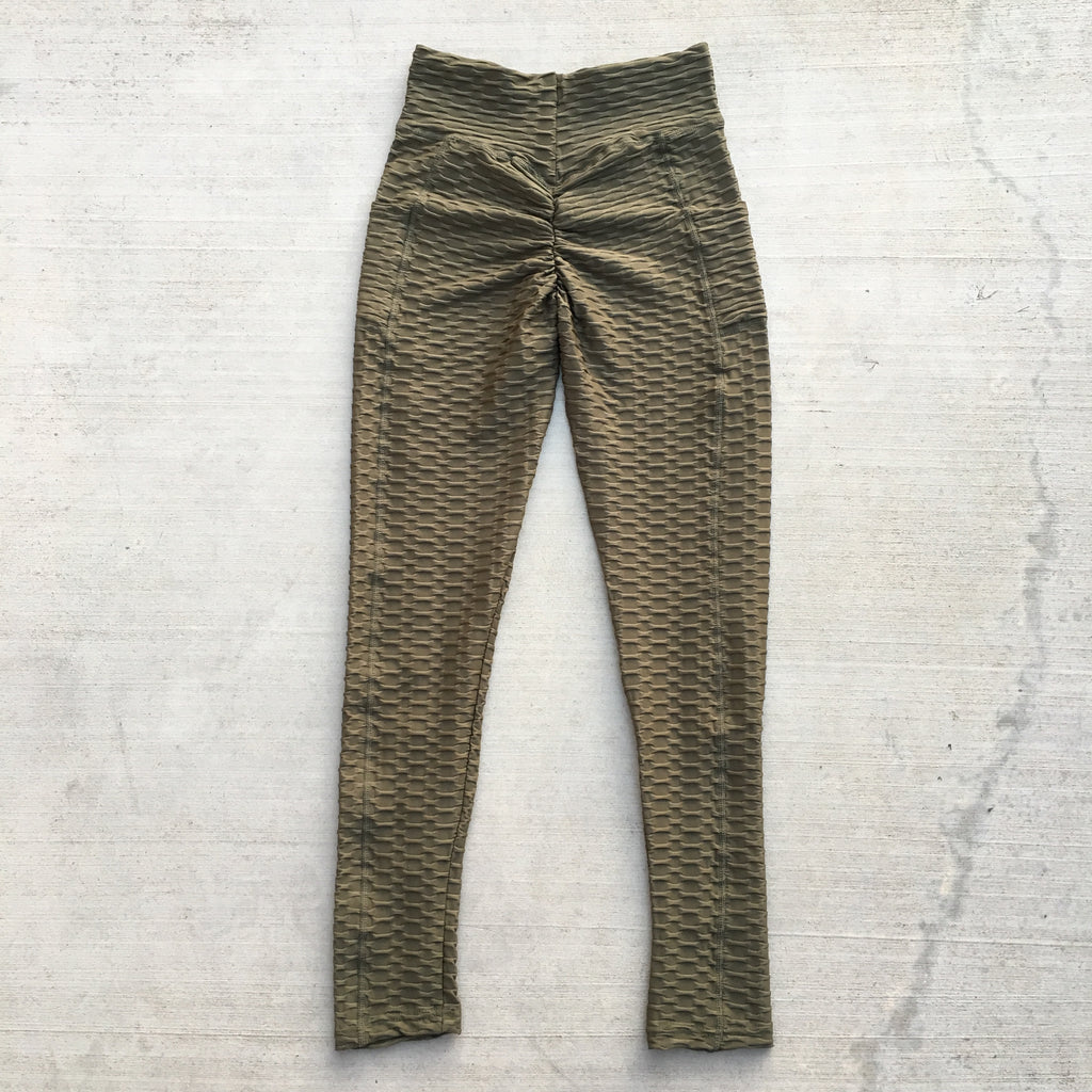 Becky Leggings with Pockets - Olive
