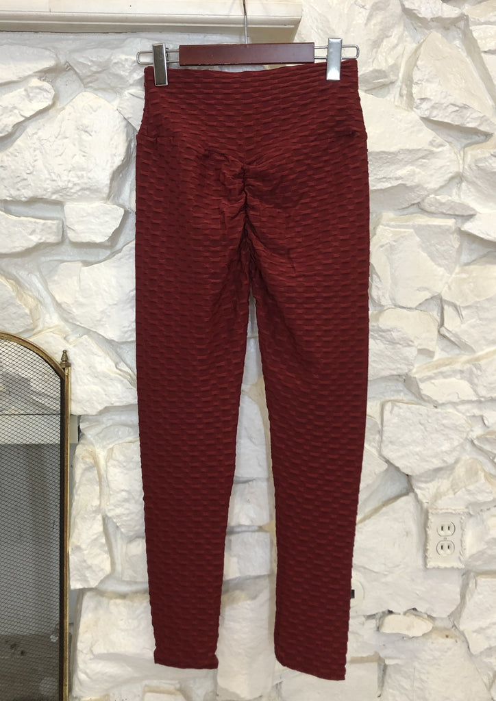 Becky Leggings - Burgundy