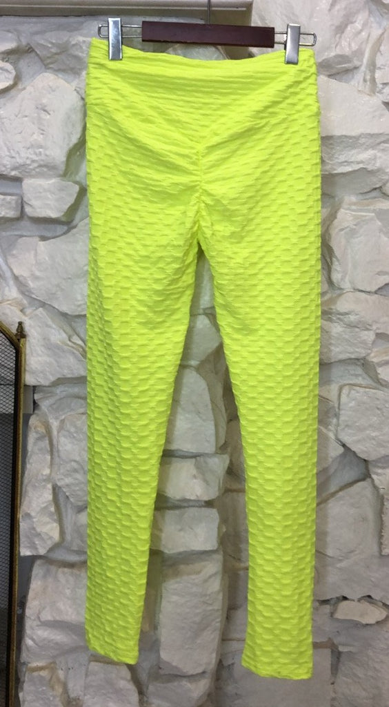 Becky Leggings - Neon Yellow