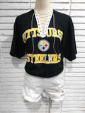 Steelers Custom lace up tee shirt
