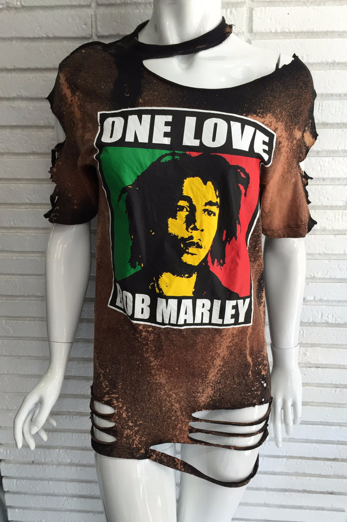 Bob Marley Distressed top