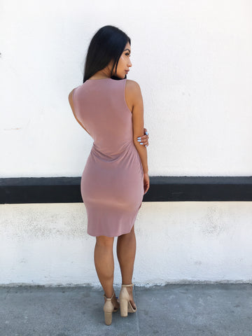 Arlene Dress- Mauve (1 Large Left)