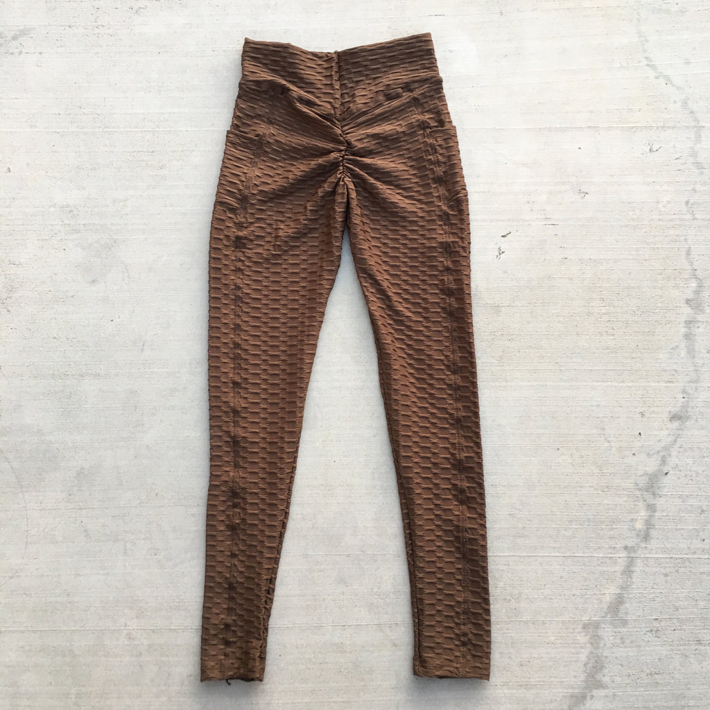 Becky Leggings with Pockets - Mocha