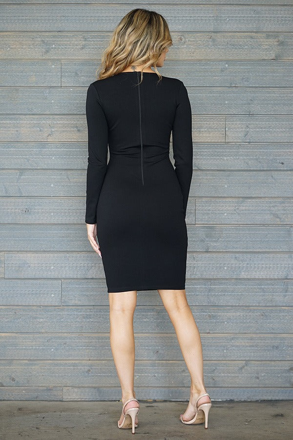 Andrea Midi Dress - Black