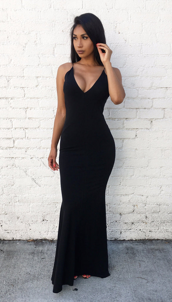 Alexandra Maxi dress - Black
