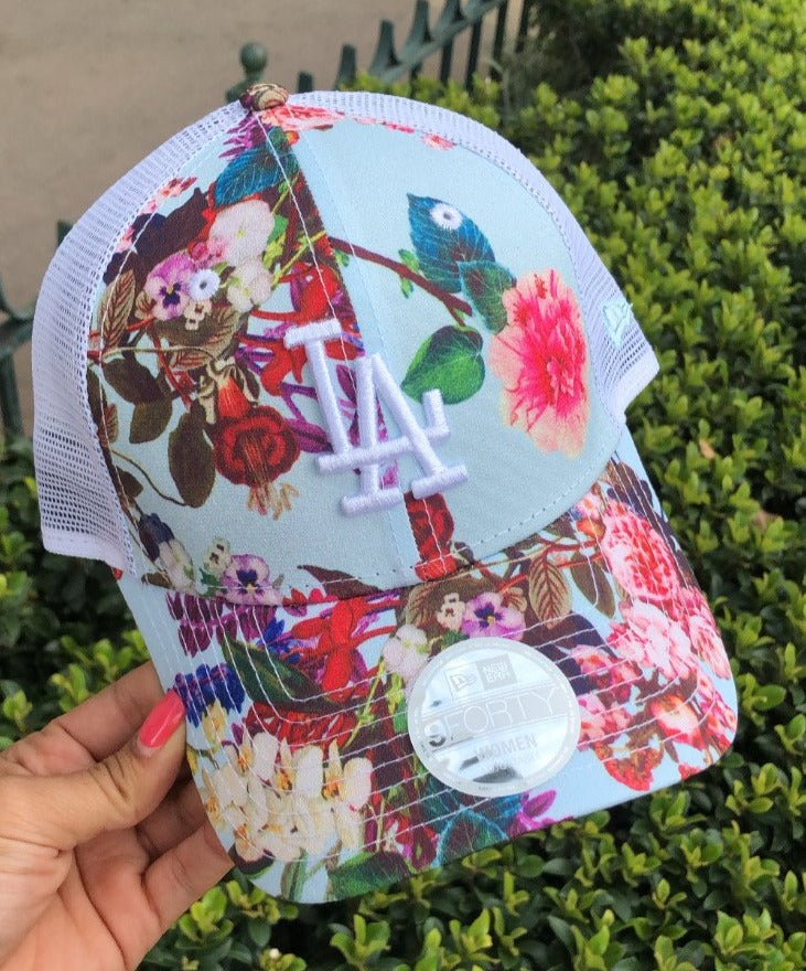 LA Floral print hat - New Era