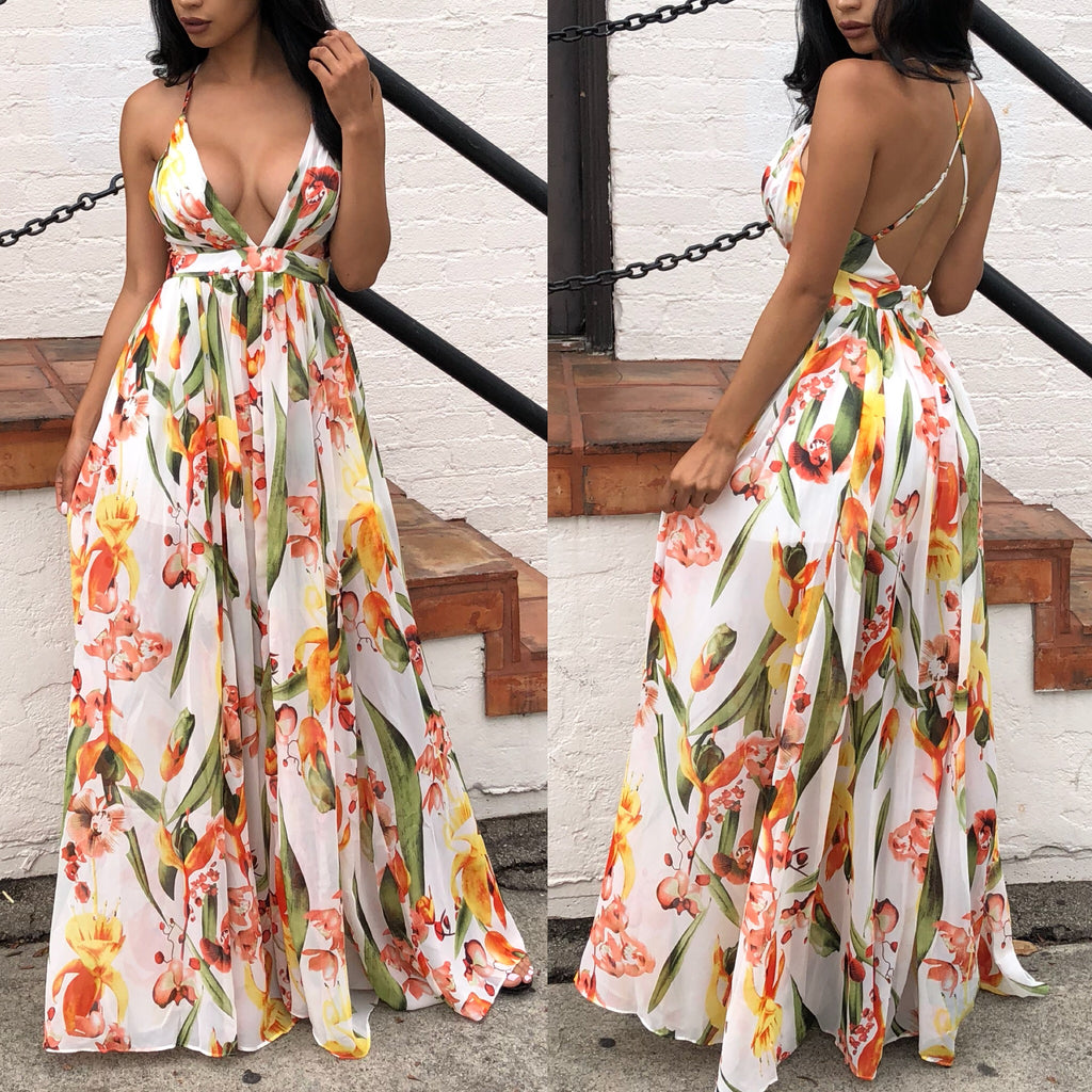 Yvette Maxi dress (Small left)
