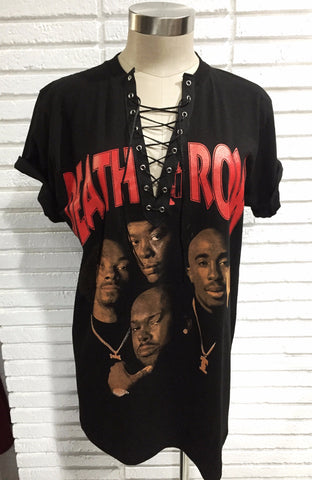 Biggie & Tupac Lace up top