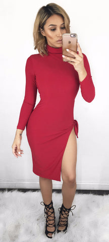Chrissy High Slit dress