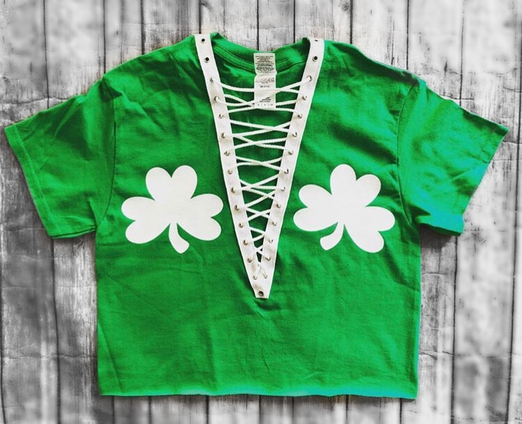 Clover Lace up shirt