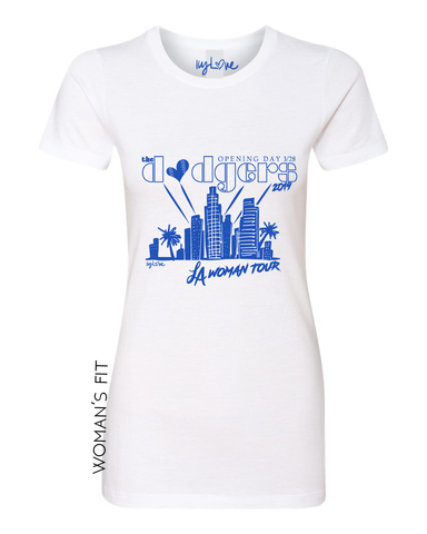Los Angeles Chargers Custom lace up tee shirt