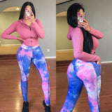 Becky Leggings with Pockets - Blue/Pink