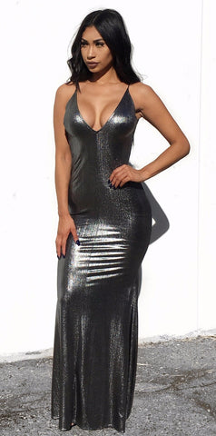 Marilyn Sequin Dress - Gold