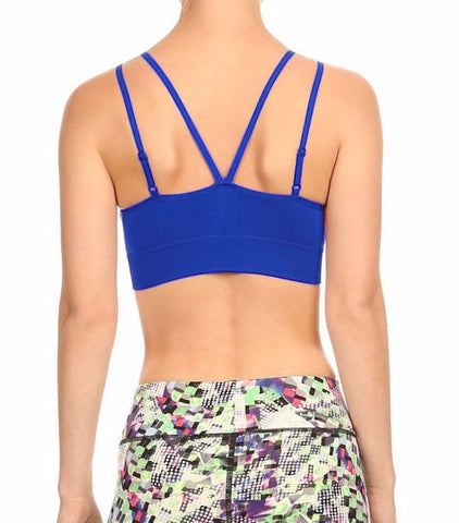 Criss Cross Sports Bra - Royal Blue