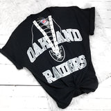 Oakland Raiders Custom lace up tee shirt