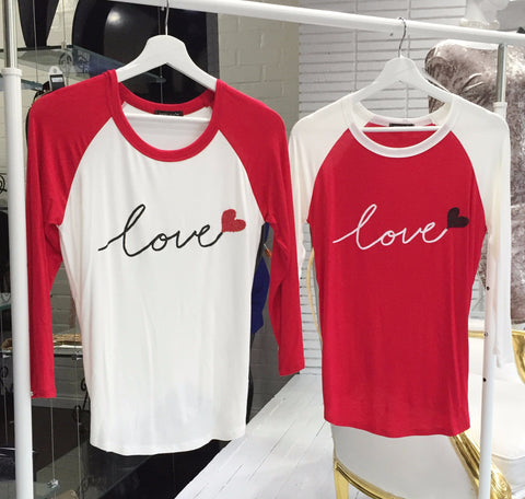 Love Baseball Top (Large Left)