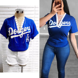 Dodgers Lace Up Shirt