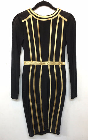 Daphne Turtleneck Dress - Black