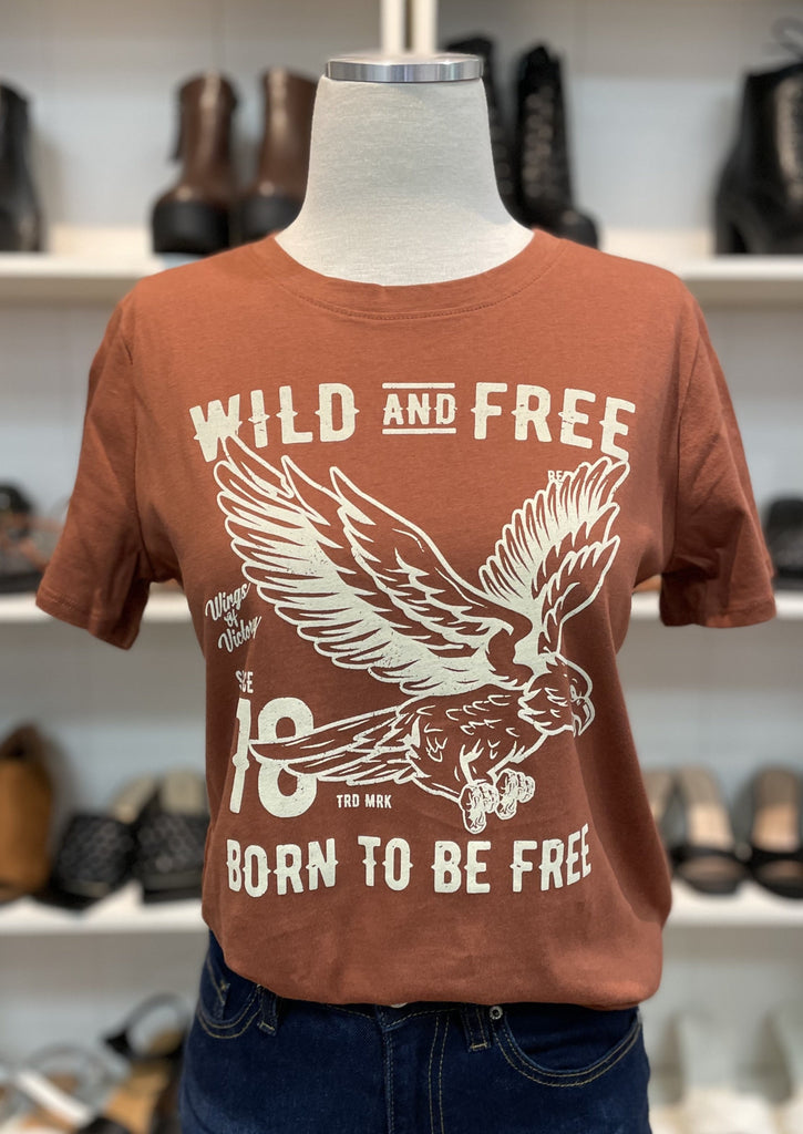 WILD AND FREE EAGLE top