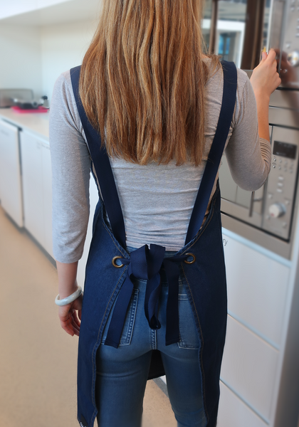 J4G Denim Apron with Swarovski crystals