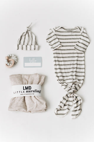 knotted baby gowns gender neutral -- littlemissdessa-- little nursling