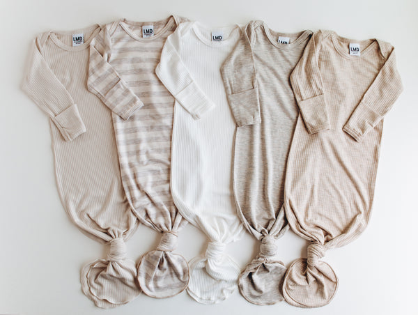 Joanna Gaines Loves Knotted Baby Gown for Crew Gaines -- LITTLEMISSDESSA