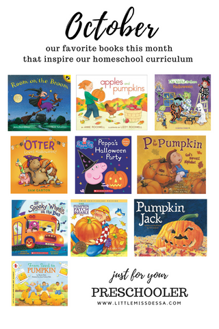 Homeschool Preschool Octobers Favorite books for toddlers