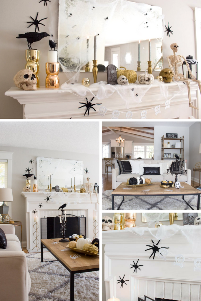 Styled with Lace Modern Halloween Home Decor
