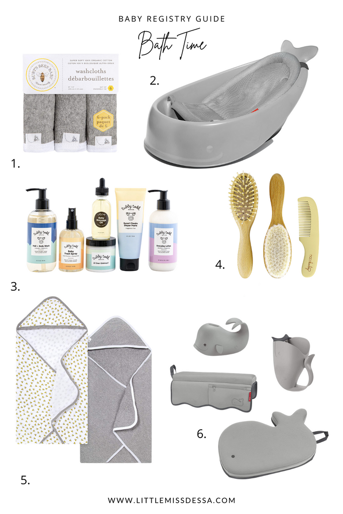Baby Registry Guide Bath time