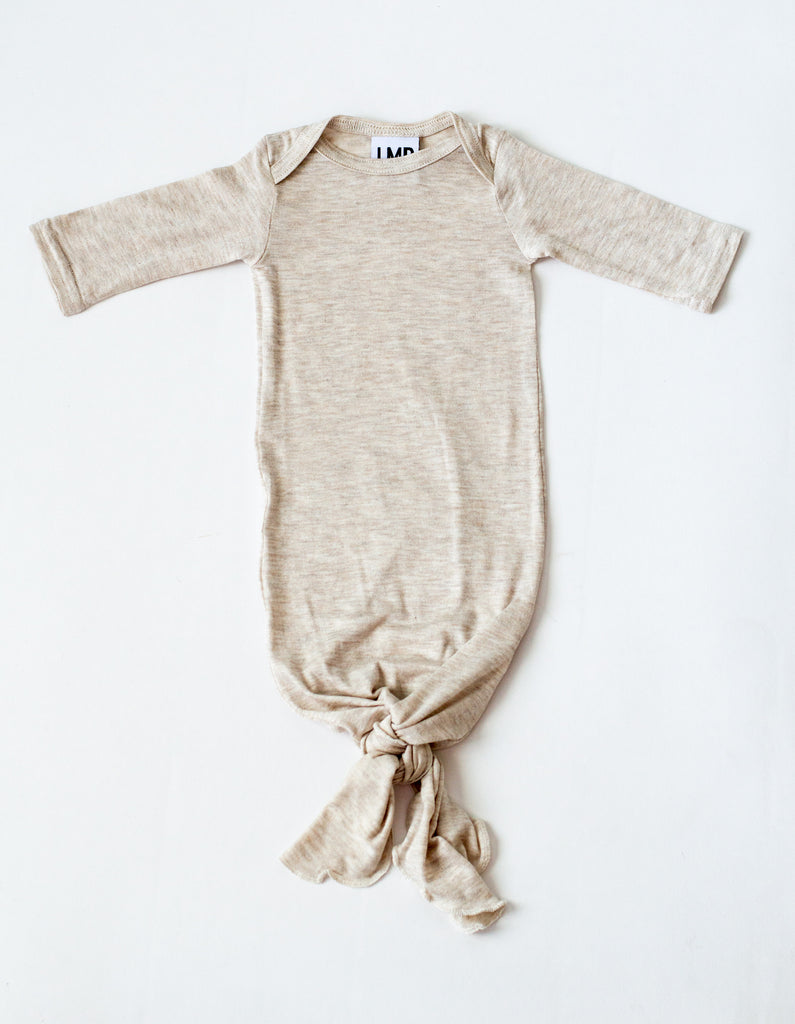 Newborn Baby Essentials: The Snuggle Knotted Gown – LITTLEMISSDESSA