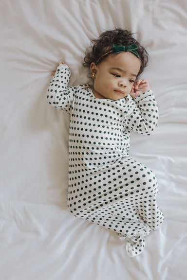 Knotted Gown | Dotty - LITTLEMISSDESSA
