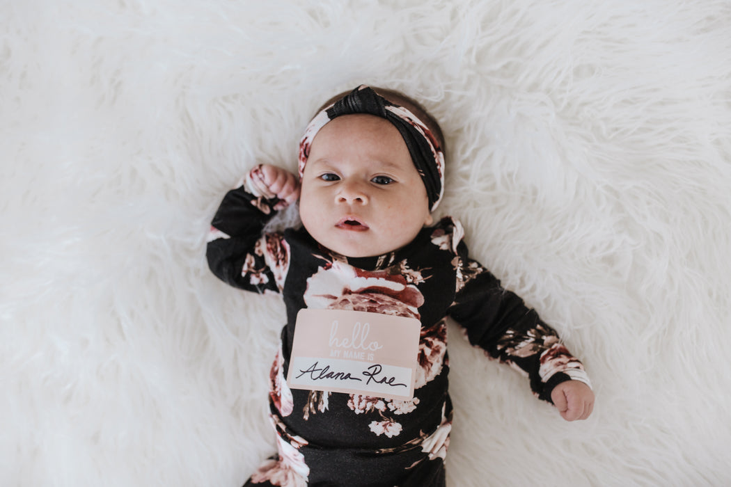 Snuggle Set | Black Dahlia - LITTLEMISSDESSA