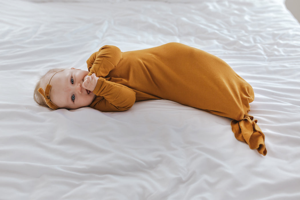 Little Nursling® Snuggle Knotted Baby Gown | Honey