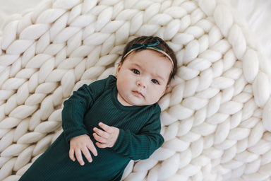 Snuggle Set | Dark Teal Rib - LITTLEMISSDESSA