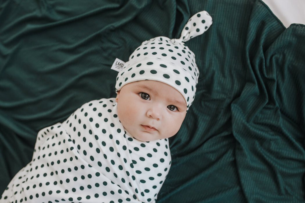 Newborn Baby Knotted Hat | Dotty - LITTLEMISSDESSA