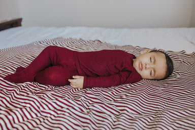 Snuggle Set | Burgundy Rib - LITTLEMISSDESSA
