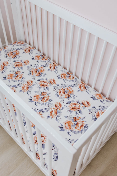 Crib Sheet | Sweet Periwinkle - LITTLEMISSDESSA