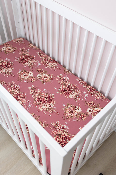 Crib Sheet | Cherry Blossom - LITTLEMISSDESSA