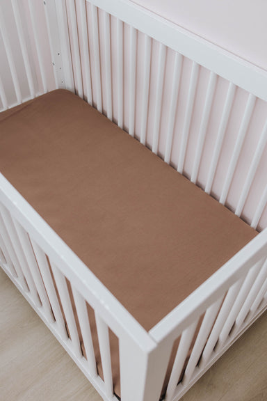 Crib Sheet | Caramel - LITTLEMISSDESSA