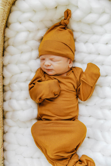 Knit Jersey Swaddle Baby Blanket | Citrine Honey - LITTLEMISSDESSA