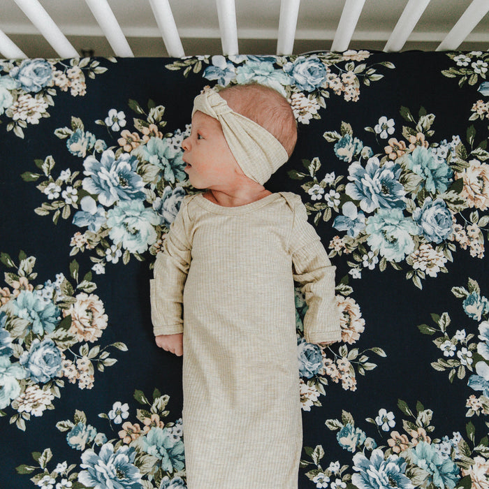 Knit Jersey Swaddle Baby Blanket | Forget Me Not - LITTLEMISSDESSA