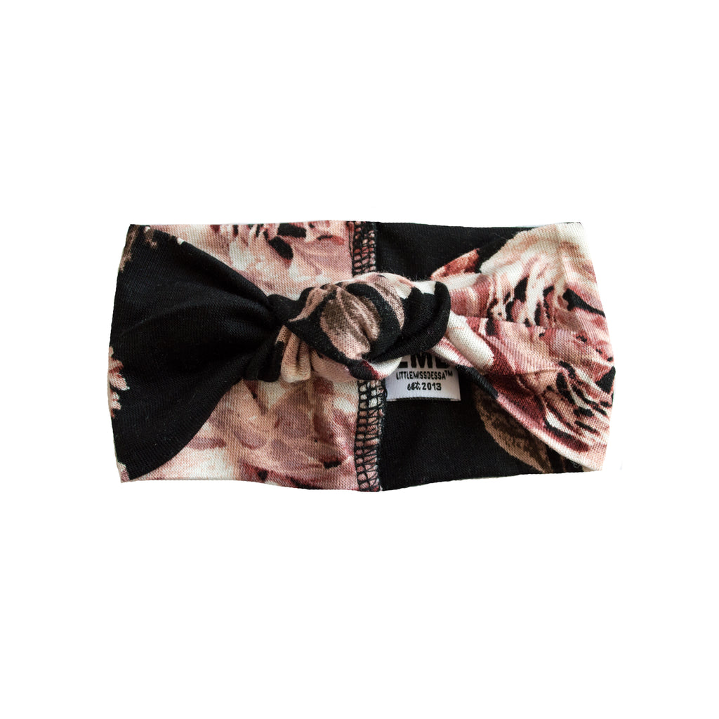 Little Nursling® Top Knot Headband | Black Dahlia