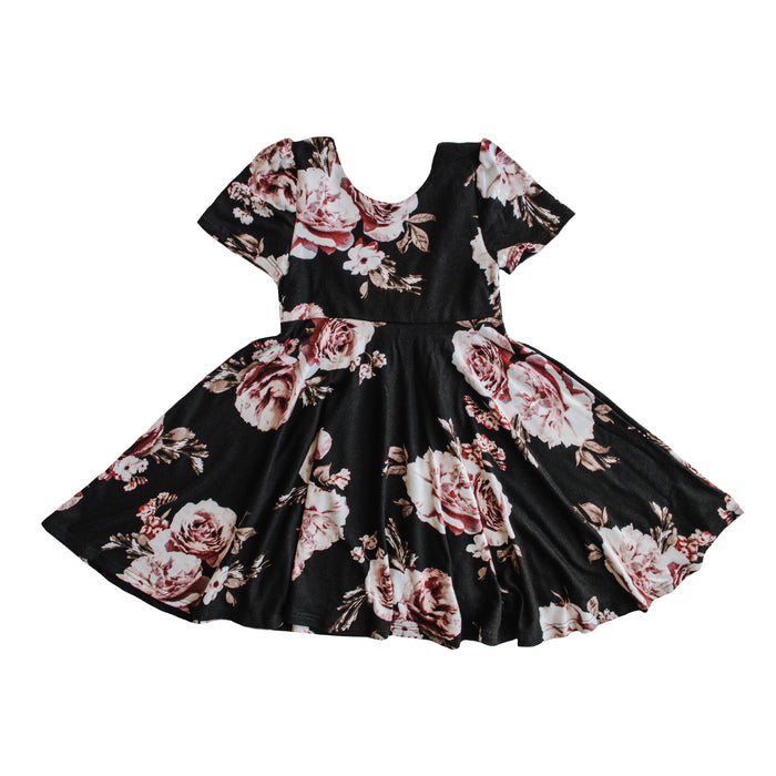 The Jersey Twirl Dress | Black Dahlia - LITTLEMISSDESSA