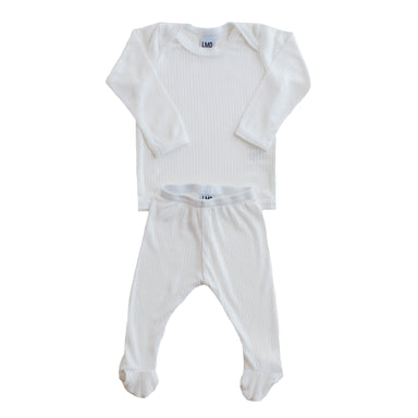 LITTLE NURSLING™ ESSENTIAL SNUGGLE SET | BLANC WHITE RIB
