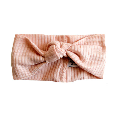 Little Nursling® Top Knot Headband | Blush Rib - LITTLEMISSDESSA