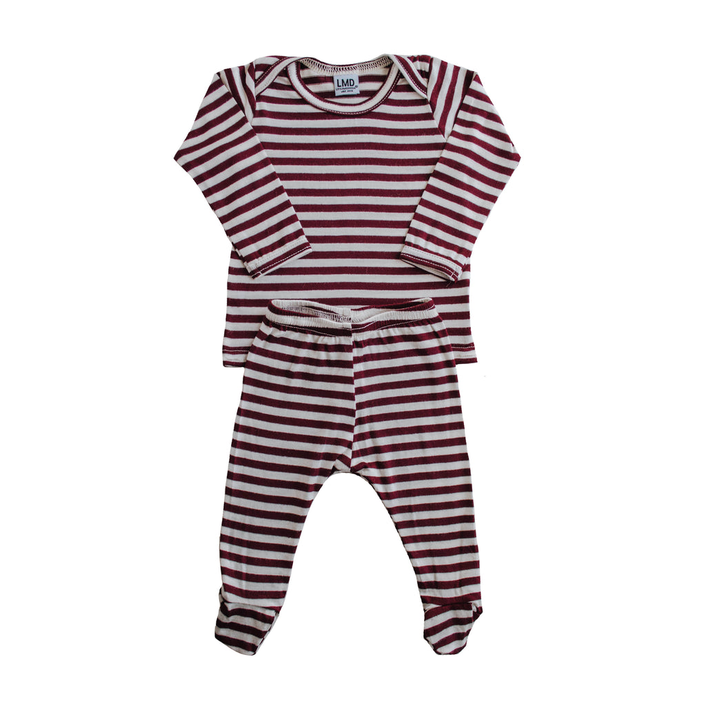 LITTLE NURSLING™ ESSENTIAL SNUGGLE SET | Burgundy & Ivory Stripe