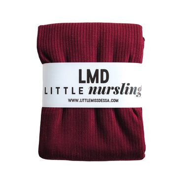Little Nursling™ Knit Jersey Swaddle Baby Blanket | Burgundy Rib - LITTLEMISSDESSA