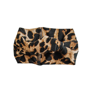 Top Knot Headband | Cheetah - LITTLEMISSDESSA